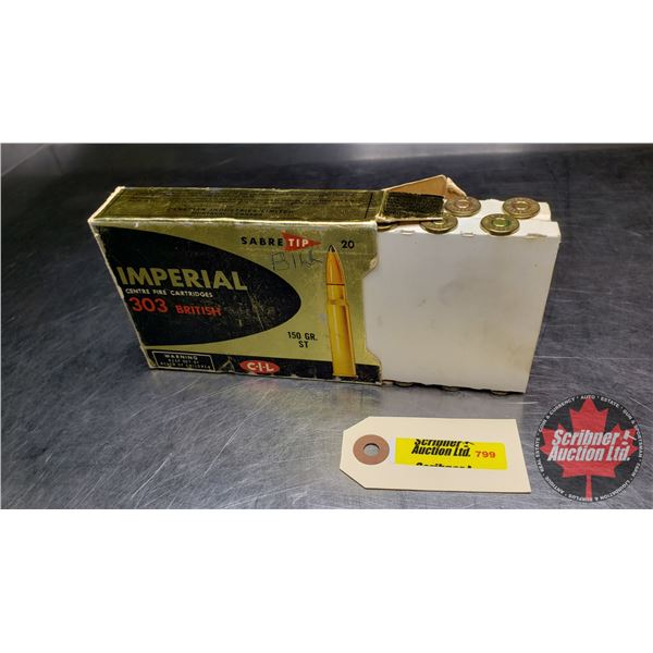 AMMO: CIL Imperial 303 British 150gr ST (19 Rnds)