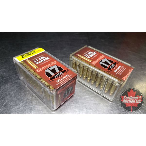 AMMO: New Surplus: Hornady 17HMR (17gr V-Max ) (2 Boxes : 50 Rnds per Box)