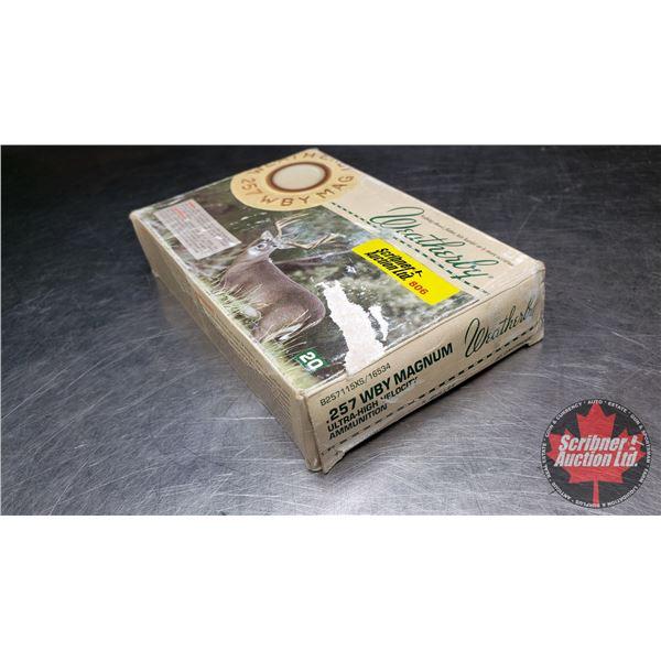AMMO: 257 Wby Magnum Reloads (1 Box = 20 Rnds)