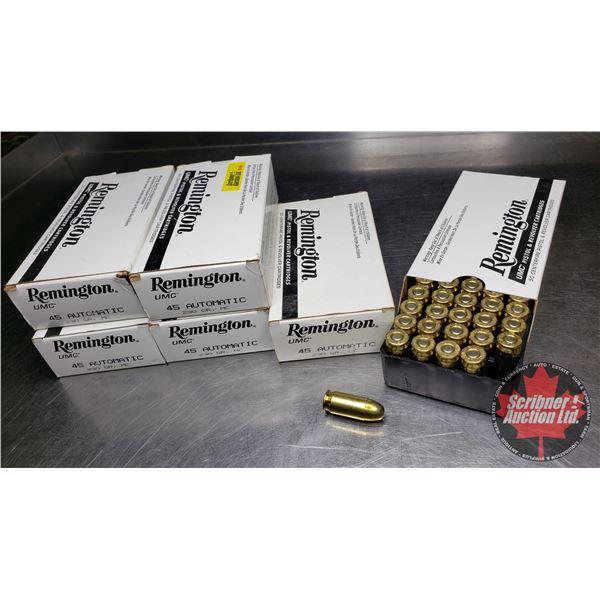 AMMO: Remington 45 Auto (6 Full Boxes = 300 Rnds)