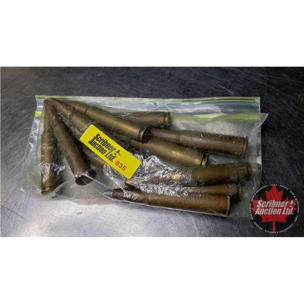 AMMO - Variety: 300 Mag (1); 8mm Mauser (2); 30-06 Sprg (2); 6.5 x 55 (2); 303 British (1); 7mm (1);