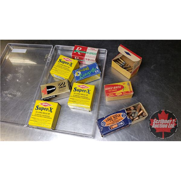 AMMO: Variety Lot (22LR) (9 Boxes = Approx 370 Rnds) (NOTE: This is Vintage Ammunition in Original B