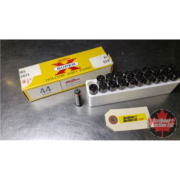 AMMO: Western Super X 44 Mag (Action Proving Dummy Rounds) (1 Box = 20 Rnds)