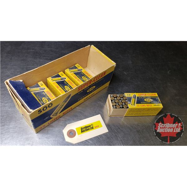 AMMO: CIL Super Clean (22LR) (4 Boxes = 200 Rnds)  (NOTE: This is Vintage Ammunition in Original Box