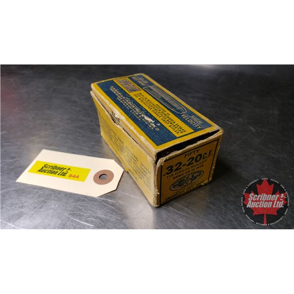 AMMO: CIL Dominion SuperClean 32-20 SP 115gr (47 Rnds)  (NOTE: This is Vintage Ammunition)