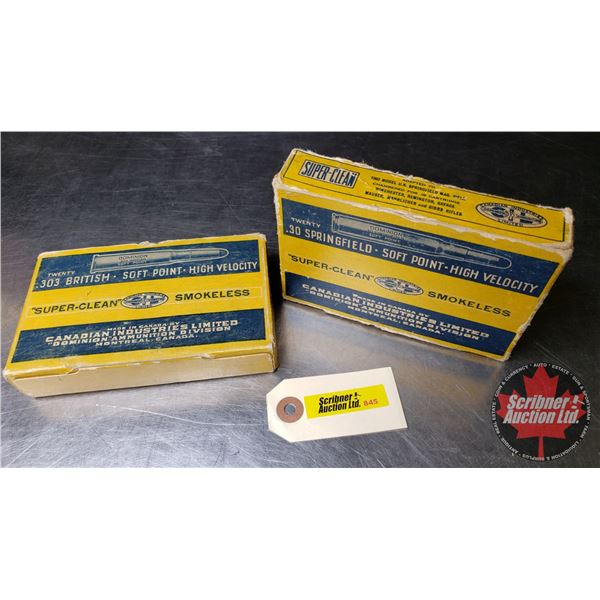 AMMO Combo : CIL Dominion 303 British (Full Box 20 Rnds) & 30-06 (9 Rnds Variety)  (NOTE: This is Vi