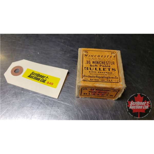 AMMO: Winchester 30Win (170gr) (25 Rnds)  (NOTE: This is Vintage Ammunition)