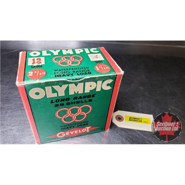 "AMMO: Gevelot Olympic 12ga (2-3/4"") 1-1/4oz #4 Shot (1 Box = 25 Rnds)  (NOTE: This is Vintage Ammuni"