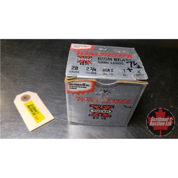 "AMMO: Winchester 28ga (2-3/4"") (1 Box = 25 Rnds)"