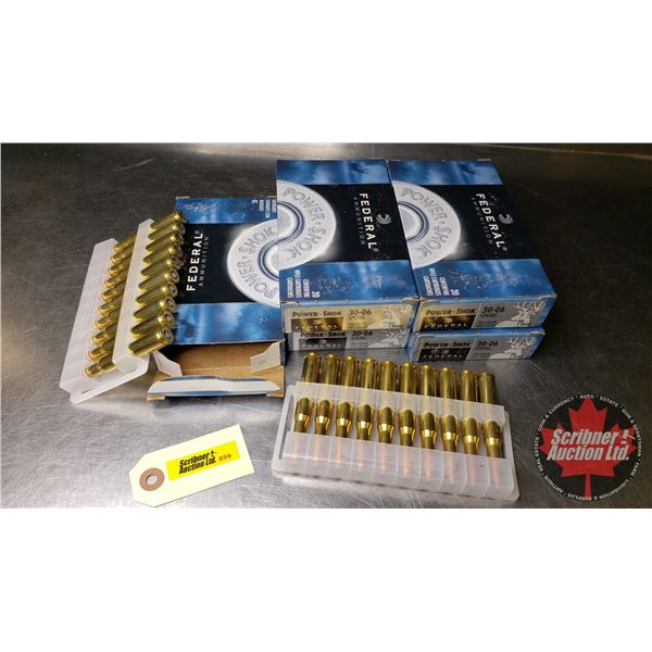 AMMO: Federal Power-Shok 30-06 Spring (180gr Soft Point) (5 Boxes = 100 Rnds)