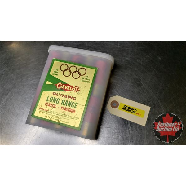 "AMMO: Gevelot Olympic Long Range 12ga (2-3/4"") #7-1/2 Lead Shot (1 ""Redi-Pac"" Box = 20 Rnds)  (NOTE:"