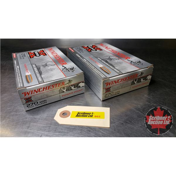 AMMO: Winchester Super X 270Win (150gr) (2 Boxes = 40 Rnds)