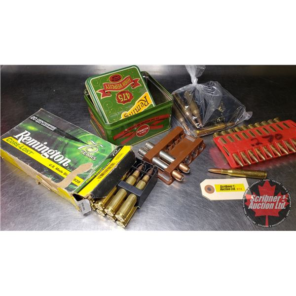 AMMO: Variety Box Lot  (10 Rnds of 270Win) & (17 Rnds of 300 Win Mag) & (4 Rnds w/Magazine of 338 Lu