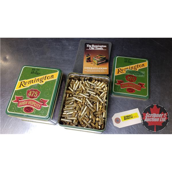 AMMO: Remington 22LR (1000+ Rnds Approx) in 2 Collector Tins