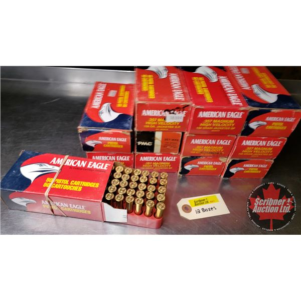 AMMO: Variety of 357 Mag (Reloads) (600 Rnds)