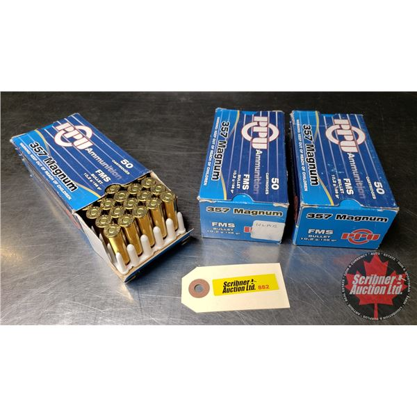 AMMO: PPU 357 Mag (FMS) (3 Boxes = 150 Rnds)