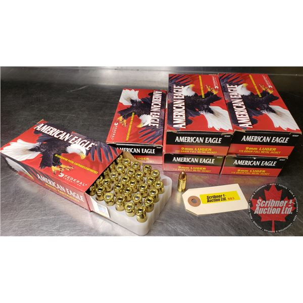 AMMO: American Eagle 9mm Luger (276 Rnds)