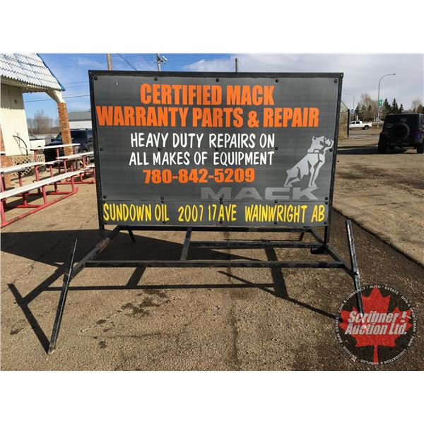 """BILLBOARD - LARGE OUTDOOR FREE STANDING (85""""H x 97""""W x 104""""D)"""