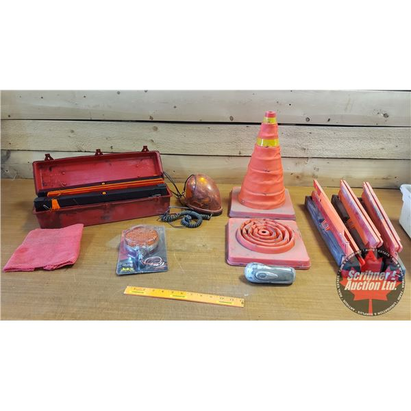 Roadside Assistance Items : Triangle Flares, Beacon, etc
