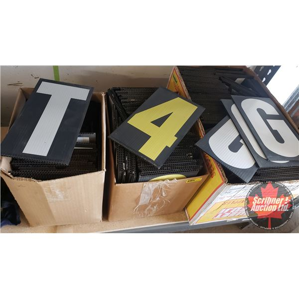 """Set of Numbers & Letters for Outside Billboard (10"""" each) (3 Boxes)"""