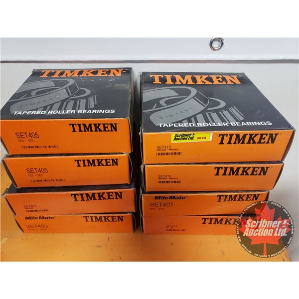 Timkin Tapered Roller Bearings (8 Boxes) (See Pics for Part #'s)