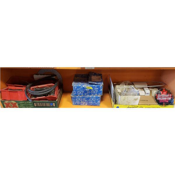 Shelf Lot: Various Small Parts (incl: Wheel Studs, Jost 5th Wheel Parts) (See Pics)