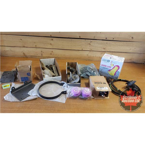 Shelf Lot: Ventilator Mask, Box Earplugs, Fuel Cap, Solenoid, etc