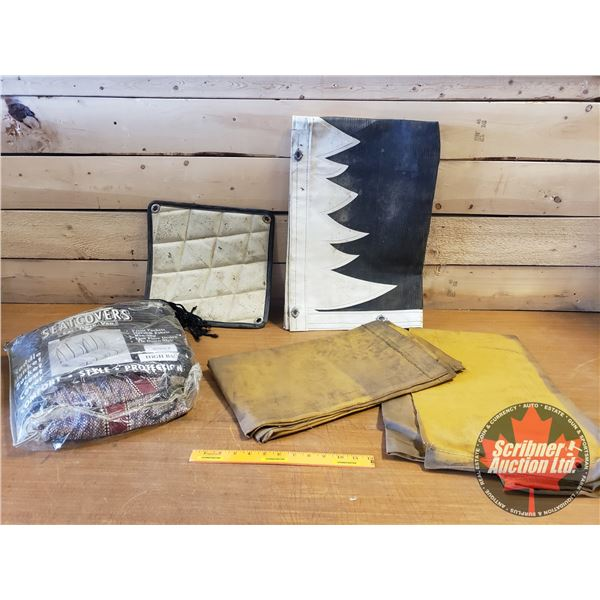 Box Lot: Truck Canvas, Winterfronts, Screen & Seat Cover