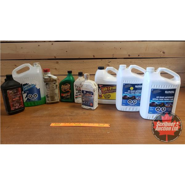 Variety of Airbrake Antifreeze, Partial Oils, Windshield Washer Fluid