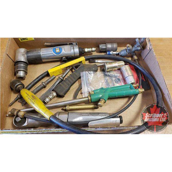 "Tray Lot: Variety of Air Tools (3/8"" Air Ratchet, Air Drill, etc)"