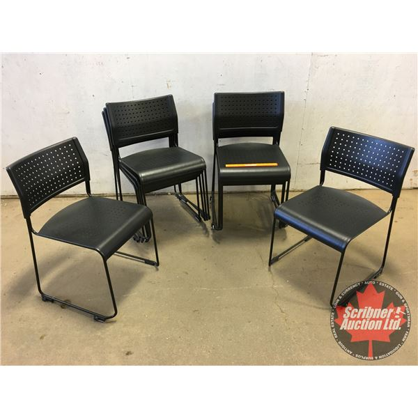 """Stacking Chairs (10) (Metal w/Plastic Seats) (Each Chair : 30""""H x 17""""W x 18""""D)"""