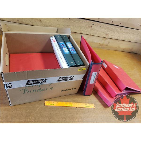 "Box Lot: Variety of 1"" & 2"" Binders (12)"