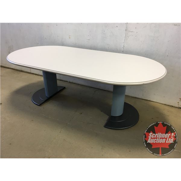"Conference Table - Double Pedestal (Metal Base - Melamine Top) (29""H x 84""W x 42""D)"