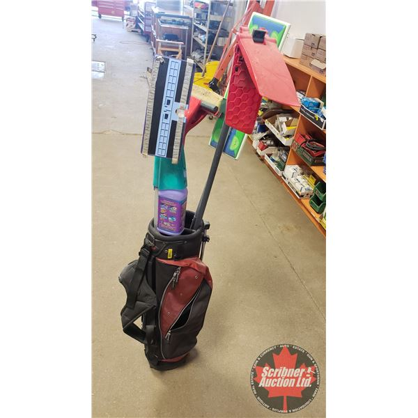 Golf Bag with Long Handle Cleaning Items (Swiffer, etc)