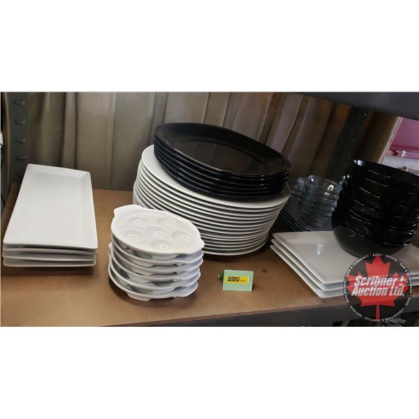 Shelf Lot: Restaurant ware - Assorted (Escargot Dishes, Bowls, Plates, Platters, etc) See Pics!