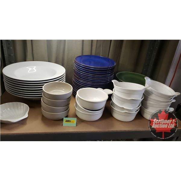 Shelf Lot: Restaurant ware - Assorted (Variety Soup Bowls / Plates) See Pics!