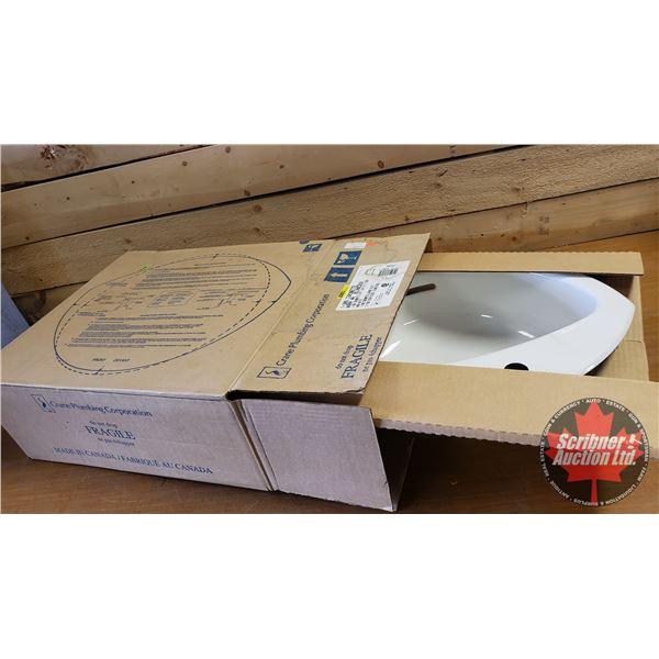 "New Old Stock - CRANE Lavatory Sink ""Coronette"" (Warm White)"