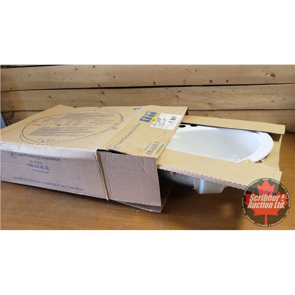 """New Old Stock - CRANE Lavatory Sink """"Townley"""" (Warm White)"""