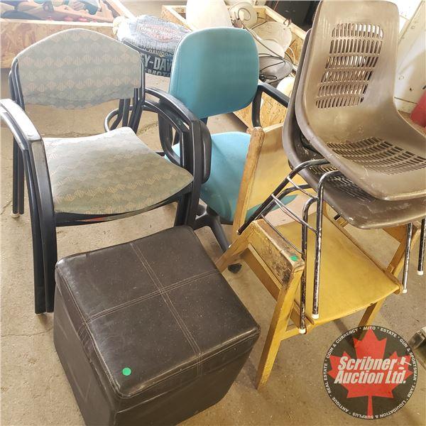 Variety Chairs/Stools (8) (See Pics)