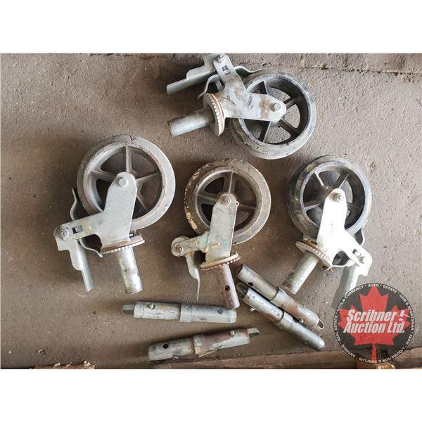 Box Lot: Scaffolding Wheels (4)