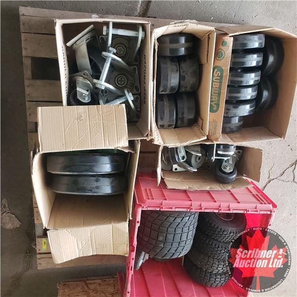 Pallet Lot: Castors & Small Tires