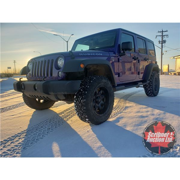 2017 Jeep Wrangler Unlimited Rubicon 4x4 - Leather (27,635kms)  Last Registered in Sask