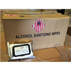 Qty 1 Box (50 Packs) Sanitizing Wipes (60 Wipes/Pack) KLD 75% Alcohol