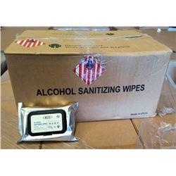 Qty 1 Box (50 Packs) Sanitizing Wipes (60 Wipes/Pack) KLD 75% Alcohol