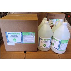 Qty 1 Box (4 qty 1-Gallon Bottles) Biologique Alcohol Sanitizer 70% Gel