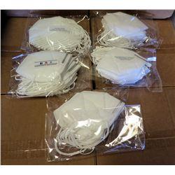 Qty 5 Packs (10/Pack) Disposable Face Masks, White Earloop (50 Masks Total)