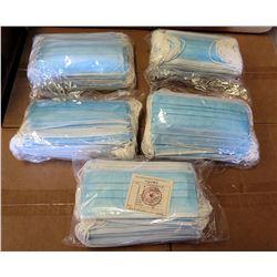 Qty 5 Packs (20/Pack) Disposable Face Masks, Blue Earloop (100 Masks Total)
