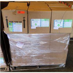 Qty 1 Pallet 36 Boxes Biologique Alcohol Sanitizer 70% Gel (324 Gal Bottles Total)