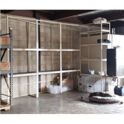 White Industrial Warehouse Shelving Units