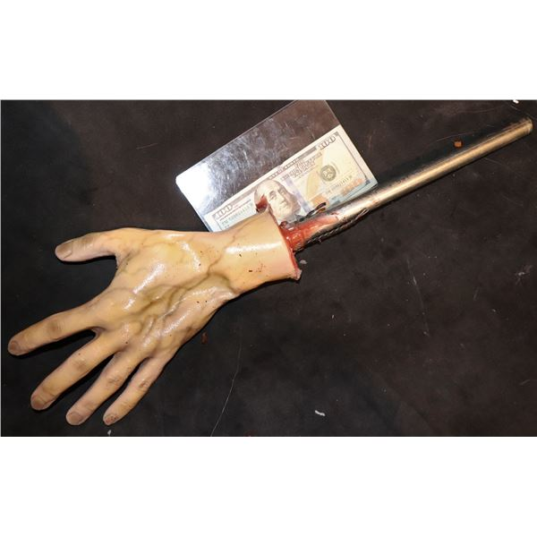 SEVERED SILICONE SQUASHED HAND INSERT WITH ROD